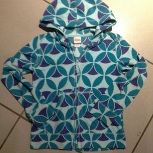 Circo fleece geometrical hoodie jacket